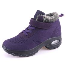 STQ 2020 Mùa Đông Nữ Ủng Cho Nữ Giày Nữ Ấm Áp Đẩy Nền Tảng Đen Mắt Cá Chân Giày Bốt Nữ Cao Gót Chống Thấm Nước Giày 2002(China)