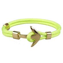 Liny złoty kotwica bransoletka liny bransoletka dla kobiety mężczyźni chłopiec dziewczyna(China)