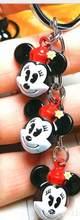 חדש 20pcs Cartoon מיקי מיני 3D ראש ינגל פעמונים חמוד Keychain תכשיטי אביזרי מפתח שרשרות תליון מתנות טובות D-01(China)