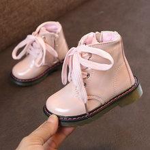 ילדים מגפי מרטין 2019 החדש שלג גומי מגפי עבור ילדי בנות עור מפוצל חורף נעלי בנות קטיפה קצר קרסול מגפיים(China)