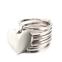 Podwójnego zastosowania bransoletka pierścień dla kobiet moda biżuteria chowany deformacja srebrny złoty bransoletka pierścień miłość serce pierścienie bransoletki(China)