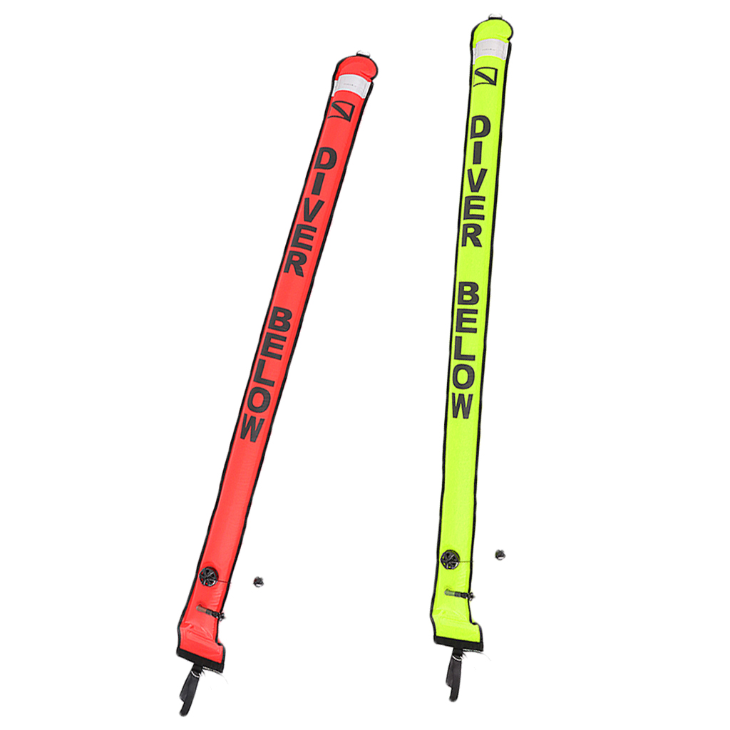 Lot 2 Heavy Duty Scuba Diving Diver Safety Sausage SMB Surface Marker Buoy Signal Tube