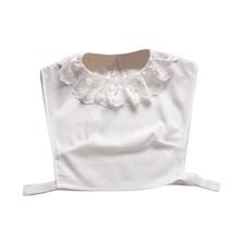 Милая женская полурубашка с имитацией воротника, клетчатая Съемная блузка, топы с воротником с лацканами, 6 стилей(China)