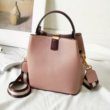 FOXER Cowhide Bucket Bag Lady Messenger Bag Round Women High Quality Stylish Handbag & Totes Elegant Female Bag Large Capacity(China)