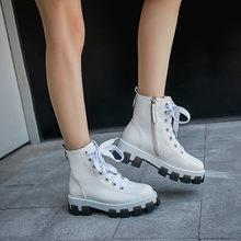 FEDONAS talons épais femmes en cuir véritable bottines mode plate-forme bottes courtes chaussures de ville femme hiver bottes chaudes(China)