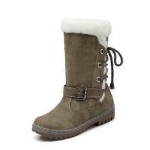 Kadın Ayakkabı Kış Çizmeler Sıcak Kar Botları Toka Maç Düz Martin Çizmeler Ayakkabı Yüksek Kaliteli Kızlar Sıcak Satış Kışlık Botlar(China)