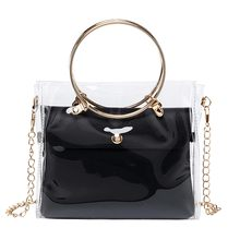Vrouw Zakken Met Metalen Ring 2019 Messenger Bag Lady Schouders Jelly Pakket Handtas Portemonnee Mobiele Telefoon Tas bolso mujer(China)