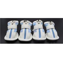 ספורט נעלי לכלבים 4 יח'\סט כלב מגפי רשת רוכסן כלב נעלי נעליים נגד החלקה עמיד למים אנטי להחליק גומי רוכסן מגפי נעליים(China)