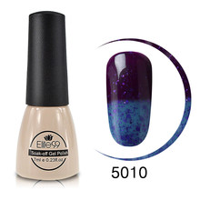 Elite99 7ML Thermo צבע שינוי UV ג 'ל לק מקצועי מזל לכות חצי קבוע לכה נייל אמנות היברידי GelLak(China)
