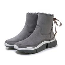 SOPHITINA kış sıcak botlar yüksek kaliteli inek süet rahat yuvarlak ayak kama moda şerit ayakkabı ayak bileği kadın kar botları PO312(China)