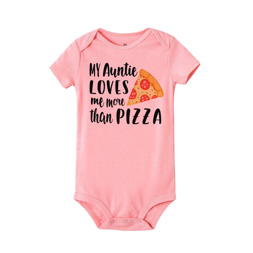 Toddler Baby Boys Bodysuit Short-Sleeve Onesie Tacos Vs Pizza Print Jumpsuit Summer Pajamas