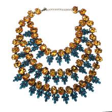Dvacaman Shiny Frauen 3 teile/satz Strass Ananas Anhänger Choker Halskette Schmuck Hochzeit Party Luxus Kristall Halsband Schmuck(China)