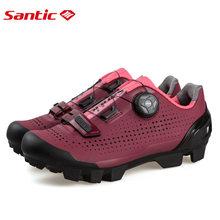 Santic נשים הניילון בלעדי כביש אופני נעל גבירותיי אתלטי מירוץ MTB אופניים נעלי לנקבה רכיבה LS18002(China)