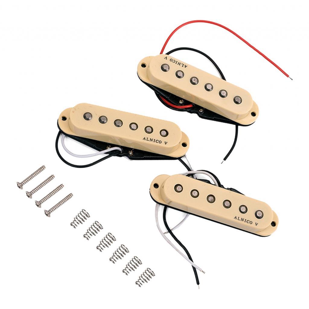 Set of 3x New AlNico V Guitar Copper Wound Single Coil Pickups for Strat Guitar