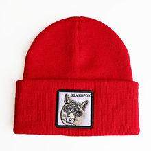 أزياء الحيوانات التطريز محبوك قبعات الرجال النساء سنببك الهيب هوب قبعة الشتاء الدافئة تنفس Gorras للجنسين الشارع الشهير العظام(China)
