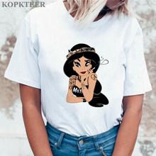 Harajuku футболка корейские Топы Kawaii уличная Camiseta Mujer Женская летняя графическая футболка Femme забавная принцесса Vogue(China)