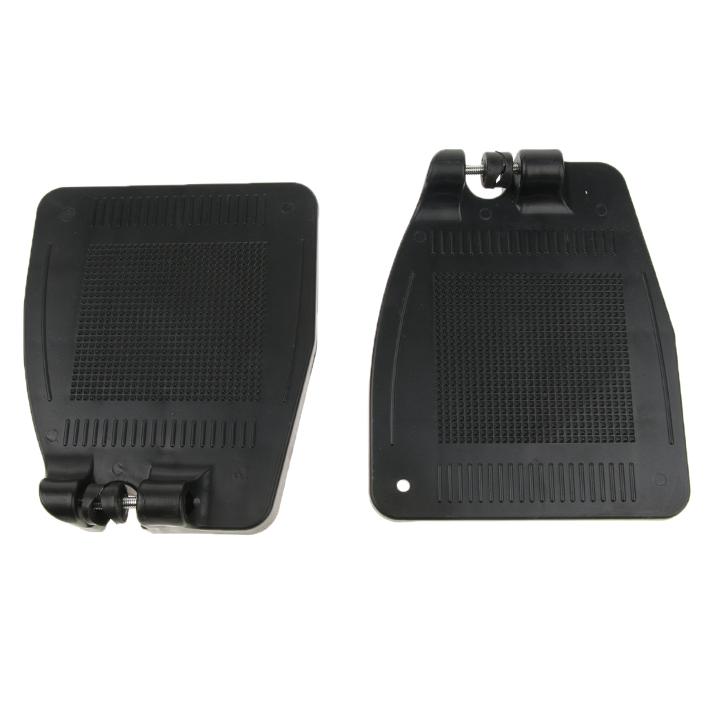2pcs Anti Slip Economy Footrest Standard Wheelchair Swing Away Footrests Replacement Parts for Disabled Patient Elderly