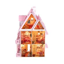 OCDAY красивый кукольный домик DIY 3D Миниатюрный Кукольный дом мой маленький дом модель здания наборы деревянная мебель игрушки подарки на ден...(China)