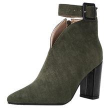 Yeni Sonbahar Ve Kış Kısa Silindir Çizmeler Yüksek Topuklu Çizmeler Ayakkabı Martin Çizmeler Kadın yarım çizmeler Kalın Fırçalayın Mujer(China)