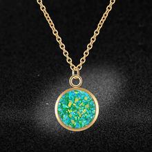 Aaaaa jakość 100% stal nierdzewna Shinning żywica naszyjnik charms dla kobiet nigdy nie niszczą biżuteria naszyjnik hurtownie Dropshipping(China)