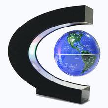 2019 nowy LED magnetyczny globus z mapą świata pływające lampka nocna stołowa maglev lampy biurko na prezent urodzinowy Home Decoration(China)