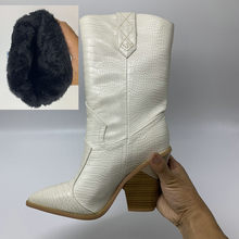 NEMAONE Drop schiff Marke frauen stiefel spitz keile schuhe herbst winter stiefel kurze damen Western mid-kalb stiefel für frauen(China)