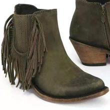 Kadın yarım çizmeler Sonbahar Moda Chelsea Med Topuk Bayan Botları Yan Fermuar Martin Çizmeler 34-43(China)