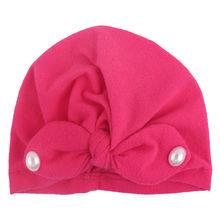 2019 милые детские шапки для новорожденных, модная детская хлопковая шапочка для маленьких мальчиков и девочек, зимняя теплая шапка с цветочн...(China)