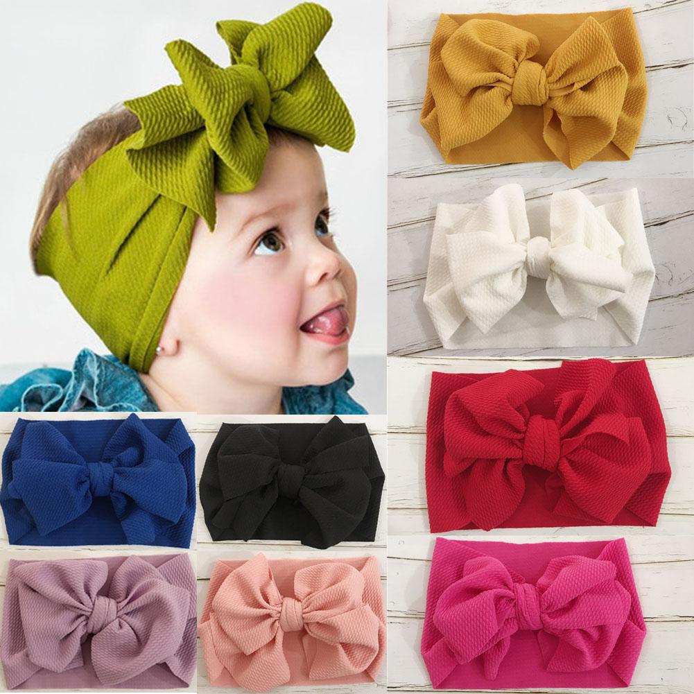 10 Solid Nylon Elastic Headband Baby Girls Women Kids Hairband Accessories POP