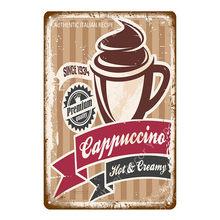 Té Helado Metal placa Lyons Espresso Vintage cartel Pub Bar cafetería tienda cocina restaurante decoración de la pared café pintura signos YI-097(China)