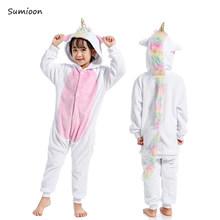 Kigumi unicornio pijamas Animal Onesie niños niñas niños ropa de dormir niños Anime Panda conejo fiesta Cospaly Invierno Caliente overoles(China)