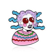 Di modo Lesbiche Gay Spilla Genitale Maschile Donna con il Seno Arcobaleno Cuore di Rosa Bottiglia di Latte Del Seno Nero labbra Sexy perni di Gioielli Distintivo(China)