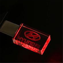 الحديث هيونداي كريستال معدن محرك فلاش usb بندريف 4 جيجابايت 8 جيجابايت 16 جيجابايت 32 جيجابايت 64 جيجابايت 128 جيجابايت تخزين خارجي ذاكرة u القرص(China)