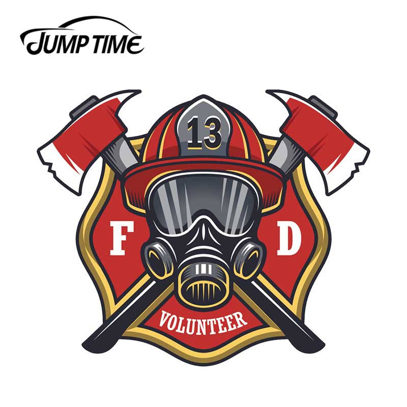 Firefighter Volunteer Maltese Cross Fire Car Window Decal Laptop Vinyl Sticker