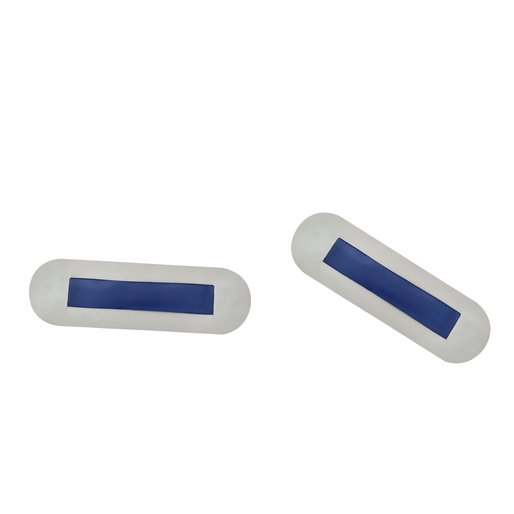2 pieces Inflatable Boat PVC Seat Hook Strap/Patches Light Grey Blue