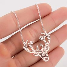 FENGLI Stainless Steel Charm Eagle Rabbit Mom Family Necklaces Jewelry Lovely Boy Girl Pendant Choker Women Delicate Gift(China)