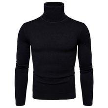 Favocent 겨울 따뜻한 터틀넥 스웨터 남자 패션 솔리드 니트 남성 스웨터 2018 캐주얼 남성 더블 칼라 슬림 맞는 (China)