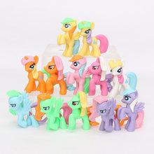 Conjunto My Little Pony Brinquedos Mini Ação PVC Figures Set Rainbow Dash Pônei Twilight Sparkle Apple Jack Pico do Dragão bonecas(China)