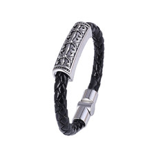 6 Style Contracted Style Leather Rope Bracelet Hip-Hop Street Culture PU Leather Rope Man Bracelet Fashion Trendy Men Jewelry(China)