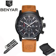 BENYAR montres hommes marque de luxe montre à Quartz mode chronographe montre Reloj Hombre Sport horloge homme heure Relogio Masculino(China)
