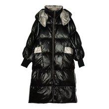 Женский пуховик женский плюс размер зимнее пальто для женщин 2019 Новое модное плотное теплое белое пуховое длинное пальто(China)