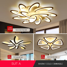 Led Chandelier for living room dining room study room bedroom lamp creative light modern simple decoration(China)