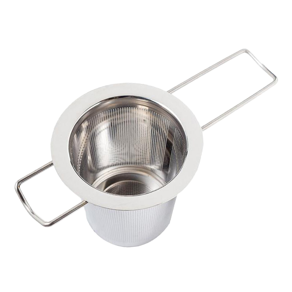 Stainless Steel Tea Infuser Mesh Strainer with Large Capacity Long Handle for Hanging on Teapots, Cup, Mug, 74x48x65mm
