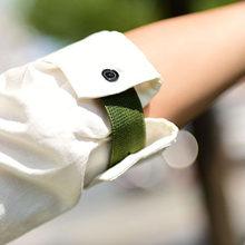 ירח ילדה שתי חתיכות שרוול אלסטי להקת טרנדי יומי אופנה נשים גברים רחוב סגנון T חולצה שרוול להקות חדש לעטוף צמיד(China)