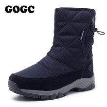 Gogc Mắt Cá Chân Giày Trắng Giày Bốt Nữ Snowboots Người Phụ Nữ Mùa Đông 2019 Giày Cho Nữ Mùa Đông Giày Nữ Mùa Đông Giày Chống Nước 9905(China)