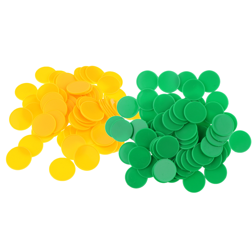 Portable 2 Set/200pcs Plastic Markers Tokens For Party Bar Game 25 X 2mm