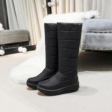 2019 kış kadın kar botları moda çizmeler rahat püskül çizmeler geri sıcak kar botları kış ayakkabı pamuklu ayakkabılar(China)