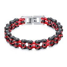 AZIZ BEKKAOUI 4 Colors Stainless Steel Bicycle Bracelet Cool Punk Man Link Chain Locomotive Chain Bracelet Male Bracelet Jewelry(China)