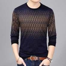 2019 브랜드 뉴 핫 캐주얼 사회 아가일 풀오버 남자 스웨터 셔츠 저지 의류 당겨 스웨터 망 패션 남성 니트 151(China)