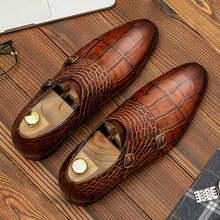 Мужская обувь из натуральной кожи; Деловые модельные туфли; Мужская Брендовая обувь из натуральной кожи Bullock; Черные свадебные мужские туфл...(China)